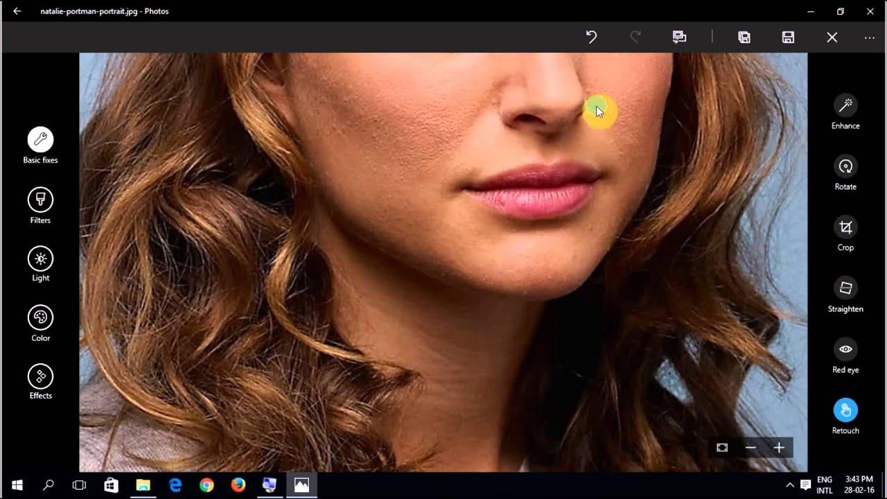 How to Edit Photos with Photo App windows 10