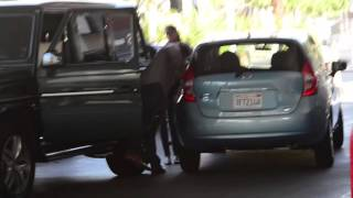 Sylvester Stallone gets into a bit of a fender bender in Beverly Hills, Ca
