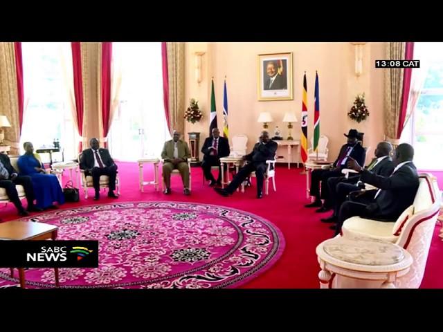 South Sudan President Salva Kiir Mayardit and his former deputy Riek Machar agree to a power sharing deal.