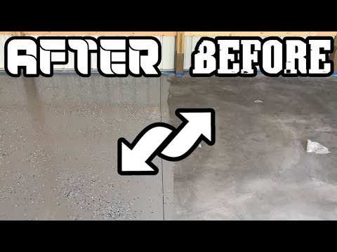 The Cheapest and Fastest Way to Epoxy a Garage Floor! (Must See!)