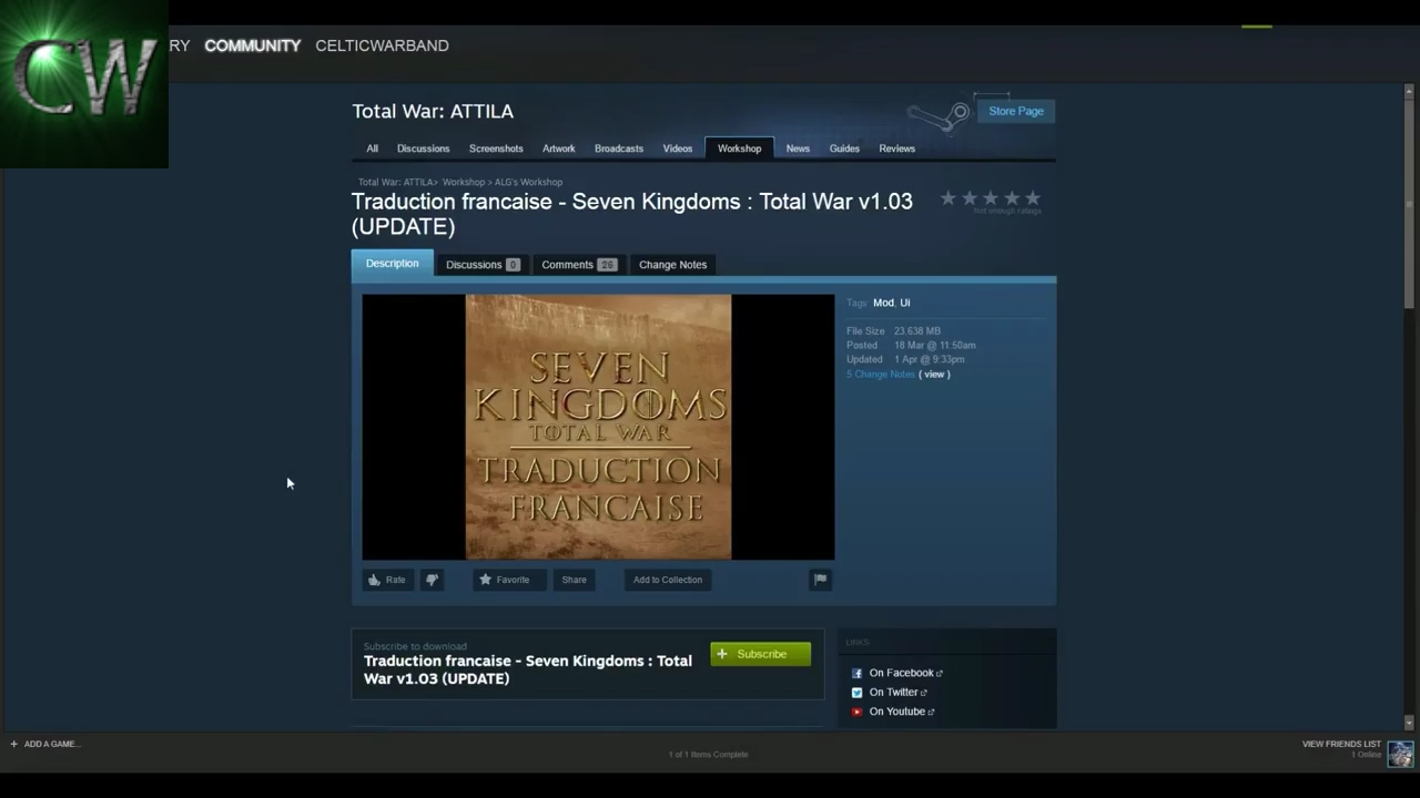 HOW TO INSTALL SEVEN KINGDOMS TOTAL WAR MOD