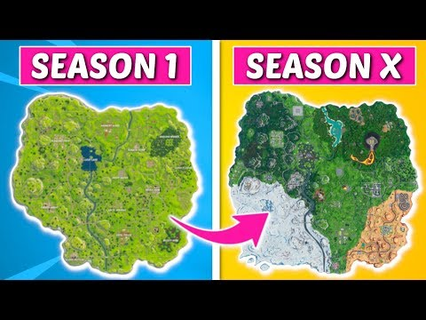 Evolution Of The Entire Fortnite Island (Season 1-10)