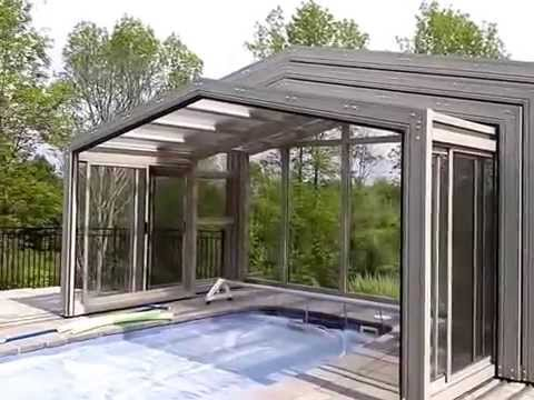 Retractable enclosures for swim spa by covers in play - Retractable swimming pool enclosures ...