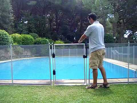 Valla piscina babysecur puerta automatica youtube - Valla para piscina ...