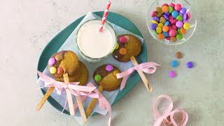Smarties Cookies on a Stick