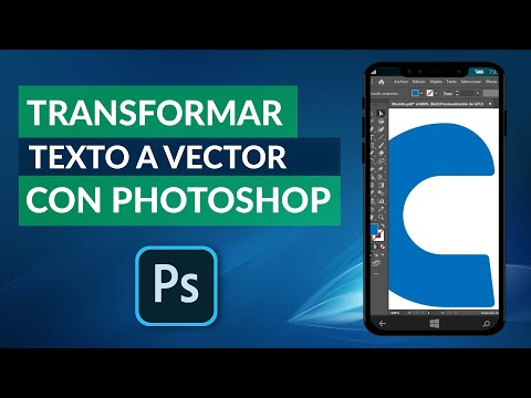 Cómo Transformar o Convertir un Texto a Vector con Photoshop