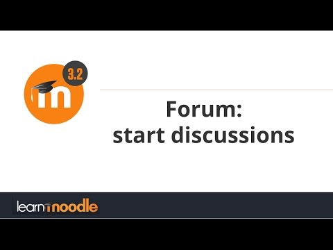 Forum: start discussions: Learn Moodle 3.2