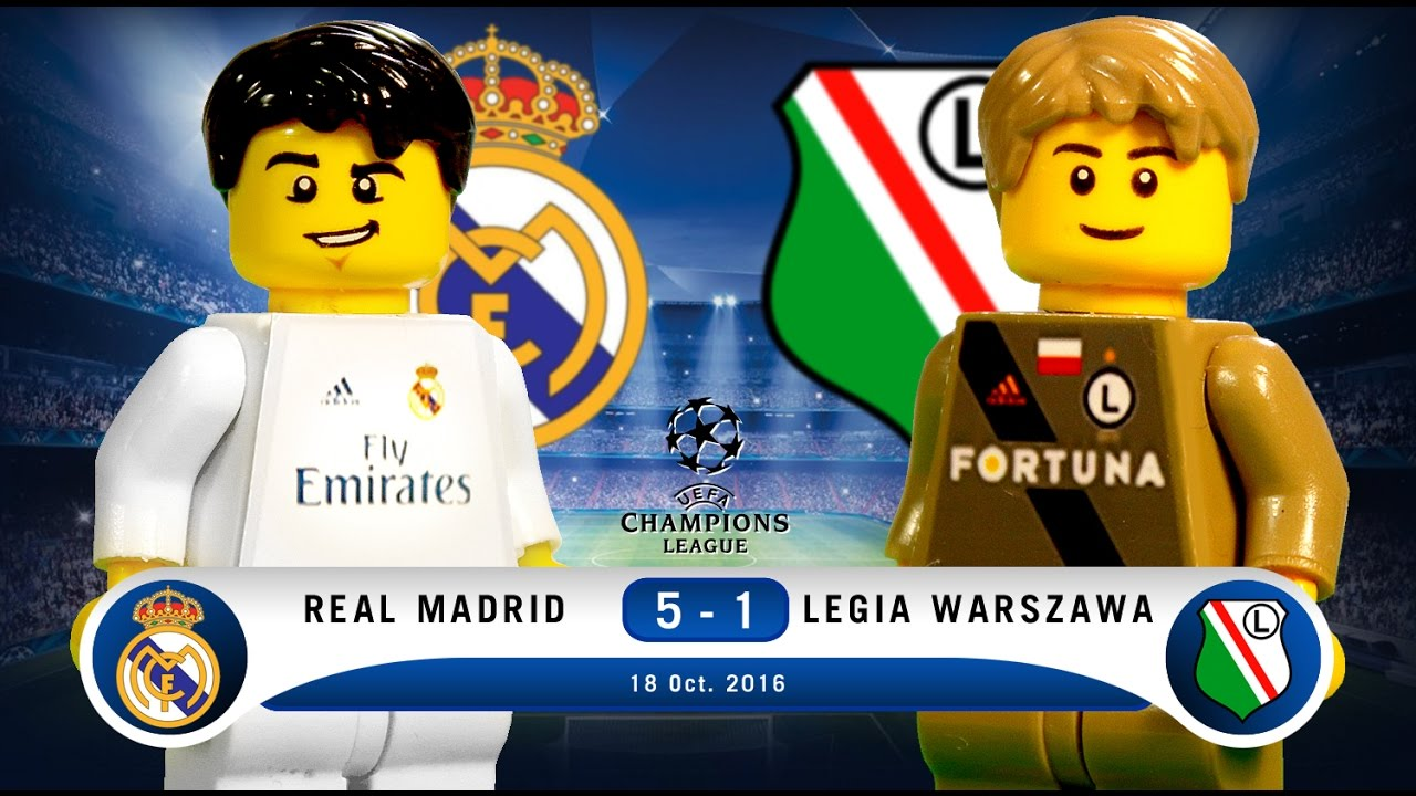 Lego Real Madrid 5 1 Legia Warszawa Champions League 2016 2017