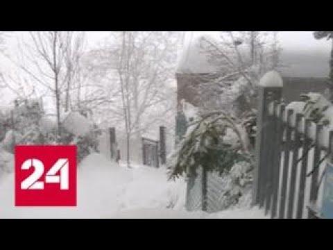 Сибирский циклон принес в Европу рекордные морозы и снегопады - Россия 24