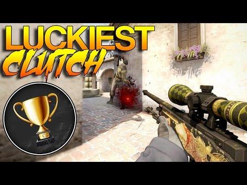 CS:GO - Luckiest CLUTCH Award!