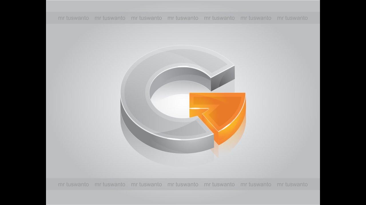 efek logo 3d dengan menggunakan corel draw x7 youtube. Black Bedroom Furniture Sets. Home Design Ideas
