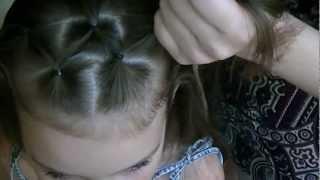 Прическа с плетением хвостиками