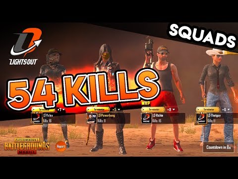 LIGHTS OUT vs. LOBBY - 54 KILL SQUAD GAME - PUBG Mobile