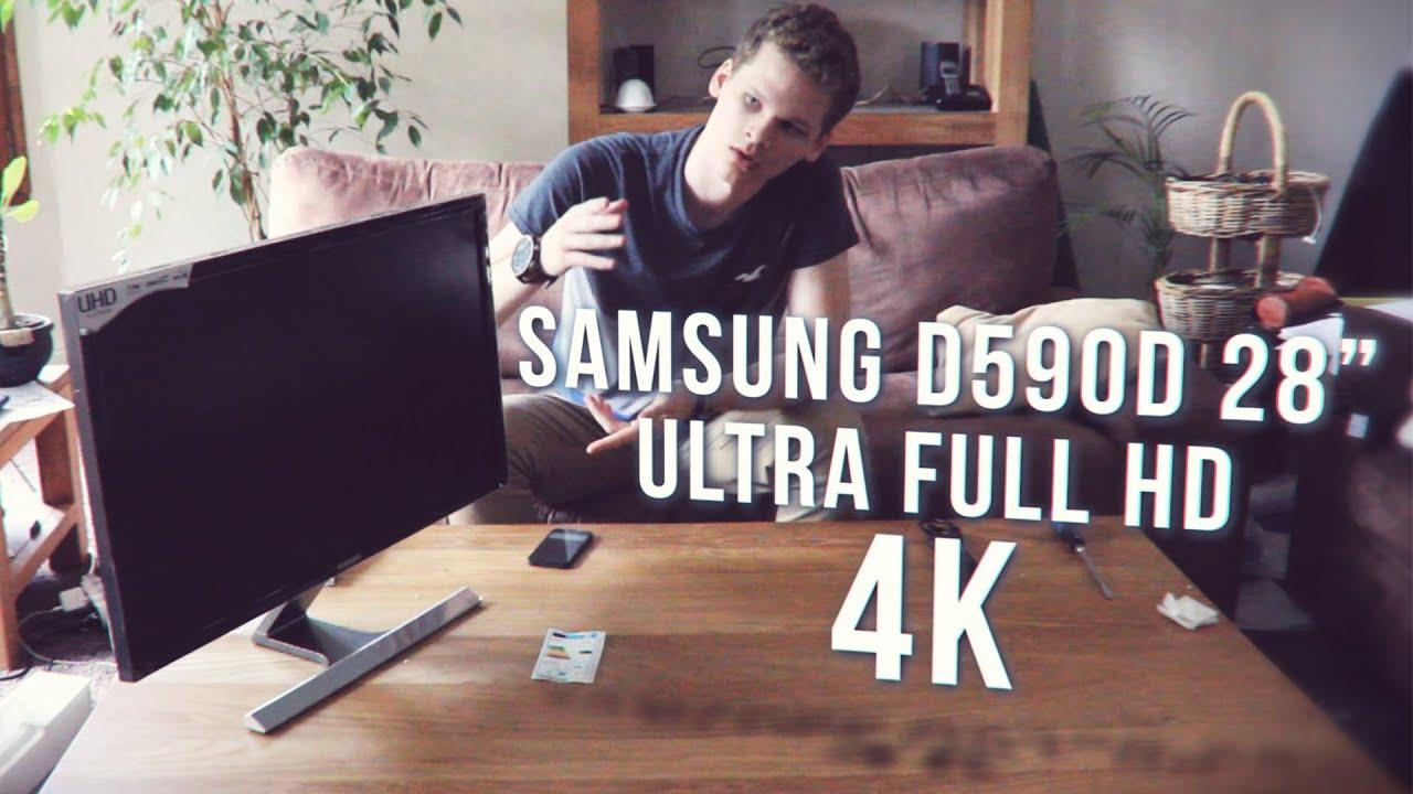Unboxing ecran 4k en 28 pouces samsung d590d youtube for Ecran 24 ou 27