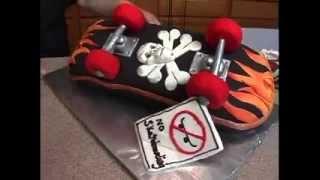Hell On Wheels Skateboard Cake Trailer