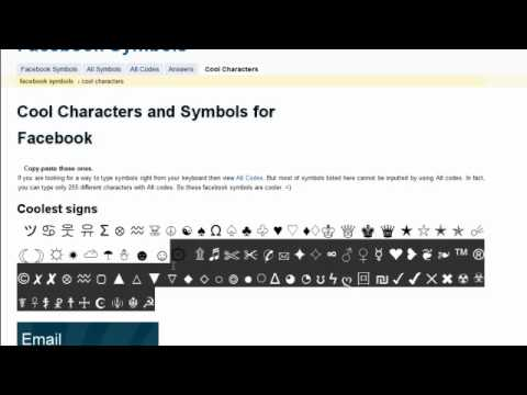 How To Insert A Variety Of Symbols Into Facebook Status Updates