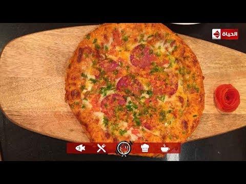 """صورة  طريقة عمل البيتزا المطبخ - هتبطلي تجيبيها من برة.. طريقة عمل """"البيتزا"""" مع الشيف أسماء مسلم طريقة عمل البيتزا من يوتيوب"""
