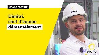 #CMonJob - Portrait de Dimitri Hamonic, Chef d'équipe Démantèlement Orano DS à la Hague