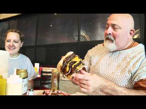 Las Vegas: dining at the Heart Attack Grill
