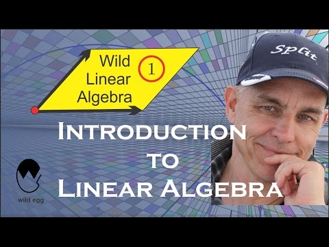 Wild Linear Algebra 1: Introduction to Linear Algebra (N J Wildberger)