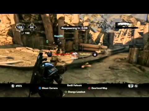 Gears of War with Black Tusk Developers #3 - Trenches King of the Hill
