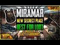 SECRET LOOT MAP MIRAMAR! BEST LOOT IN MIRAMAR MAP PUBG MOBILE•FUTURE GAMING