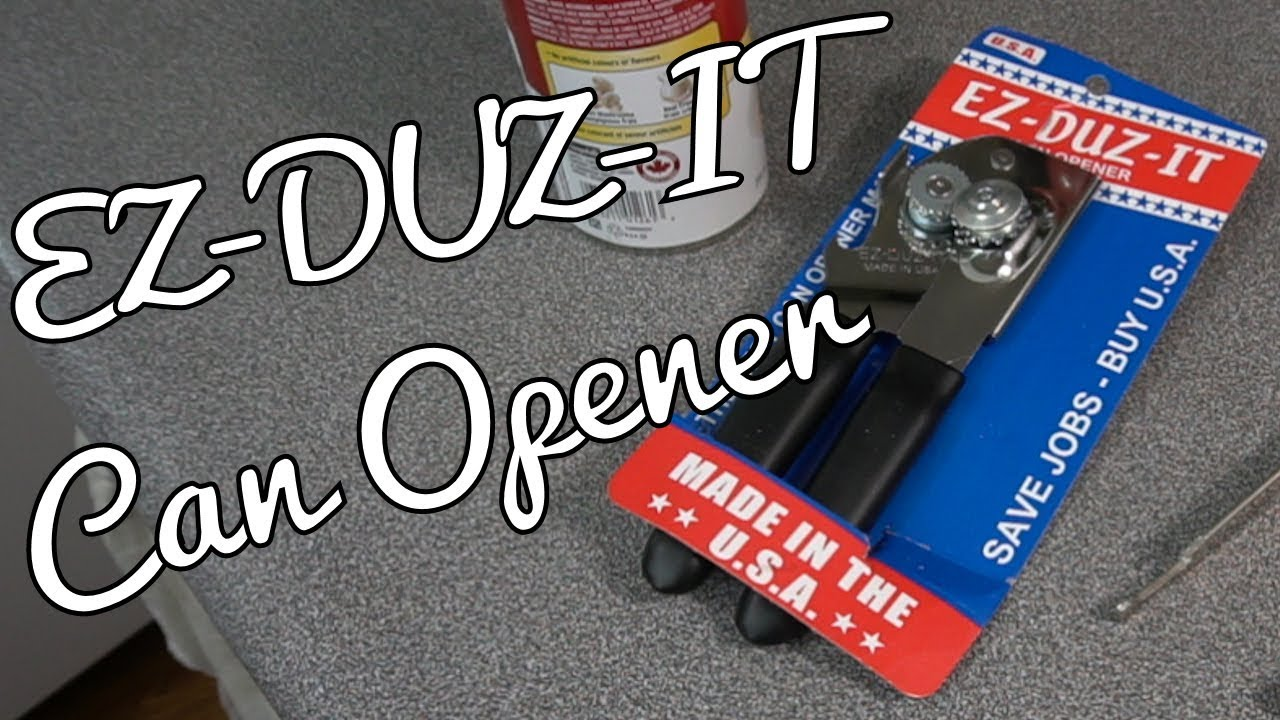 Ez Duz It Can Opener First Can Youtube