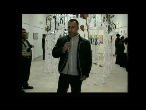 SIMKO AHMED ,SOLO ART SHOW (WHEN THE MOON IS CRYING) AT SLEMANI MUSEUM 2003