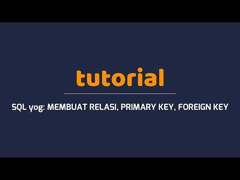 SQLyog Tutorial-Create Relation (Primary Key, Foreign Key)