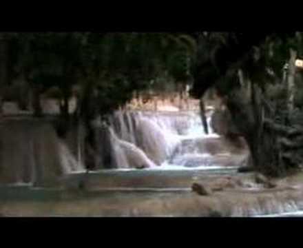 Tad Sae Waterfalls, Luang Prabang Province, Laos (w/music)