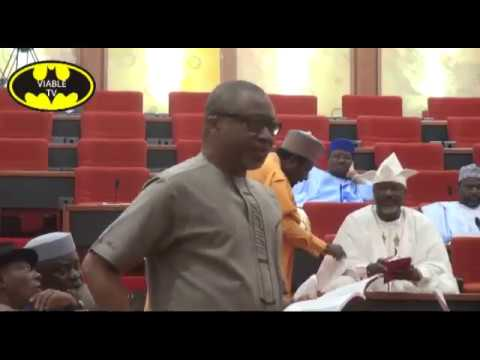 Rowdy Session In Senate, As Aberibe Calls Buhari Incompetent