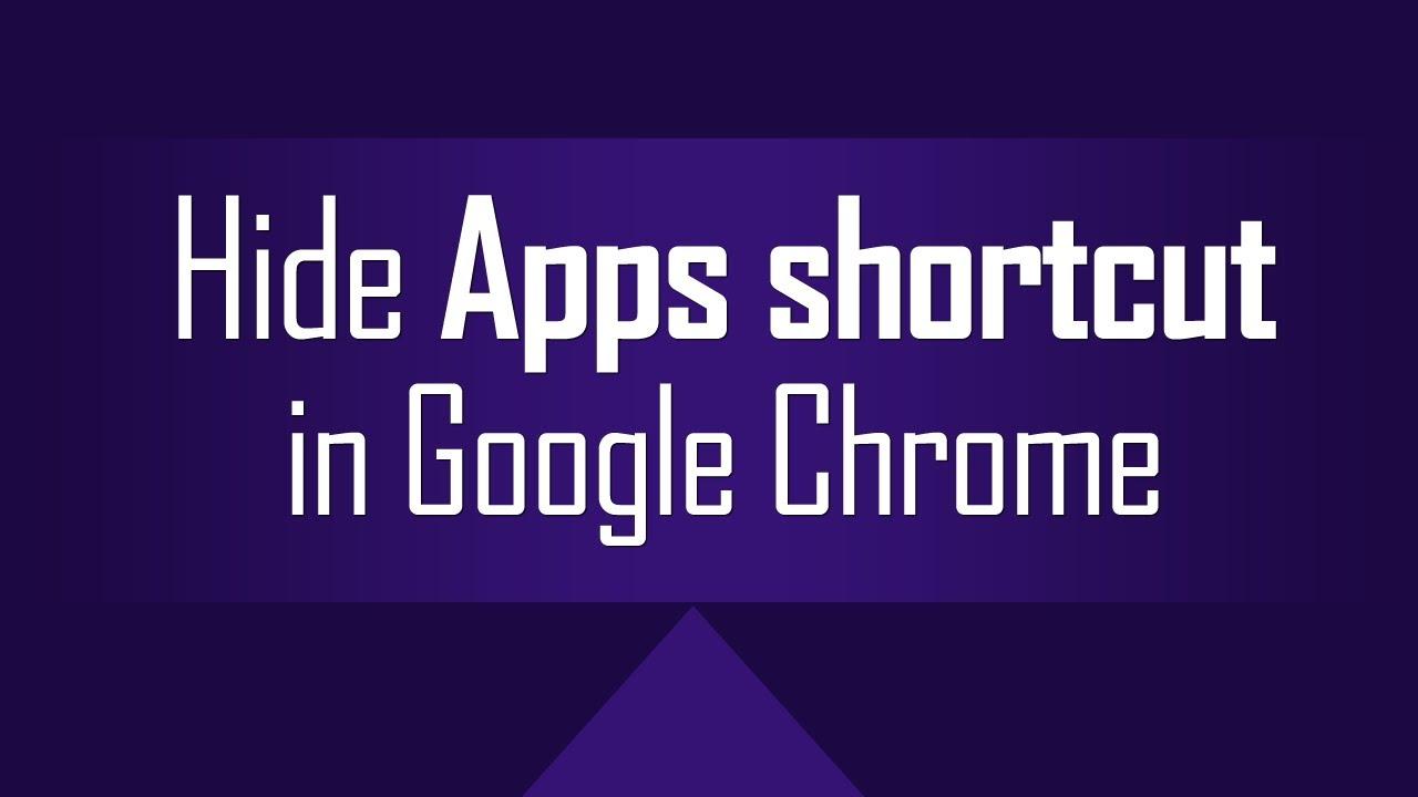 how to make a chrome shortcut