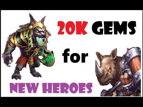 20k Gems Looking For New Heroes Rockno Anubis Gunslinger Castle Clash Fargo