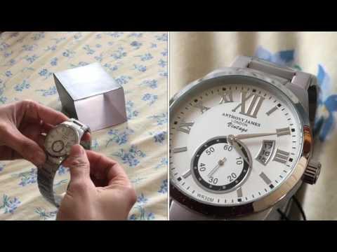 Anthony James London white vintage watch   eps