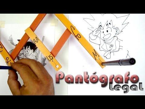 Pantógrafo desenhando o Goku