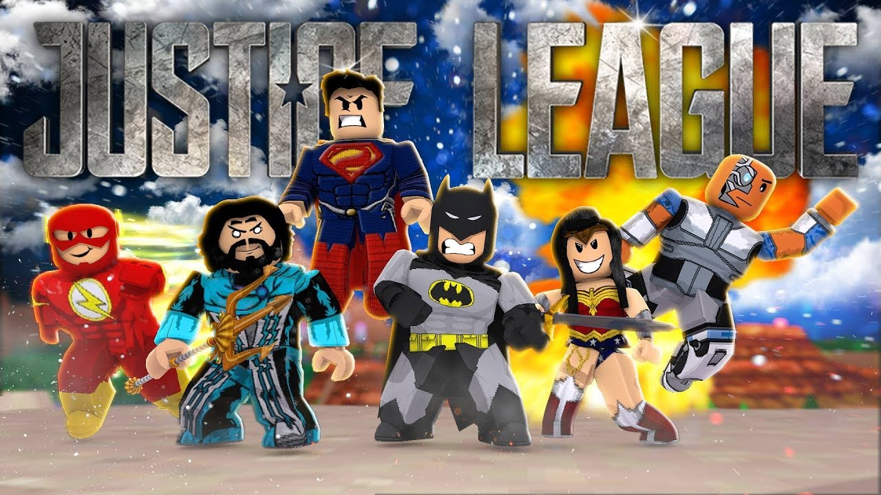 JUSTICE LEAGUE IN ROBLOX Roblox Superheroes YouTube