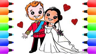 How to Draw Harry and Meghan! Learn How to Draw the Royal Couple Easy
