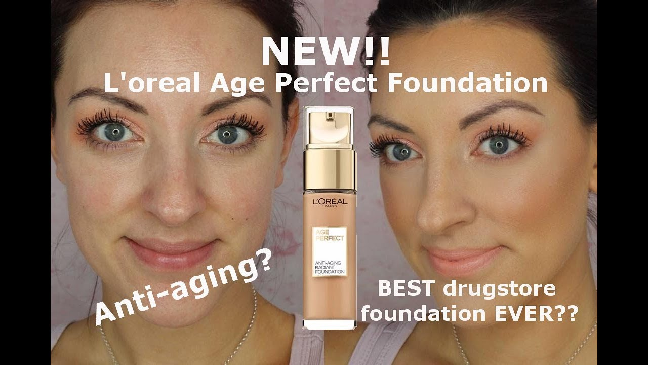 NEW L'oreal age perfect anti aging radiant foundation review and wear test
