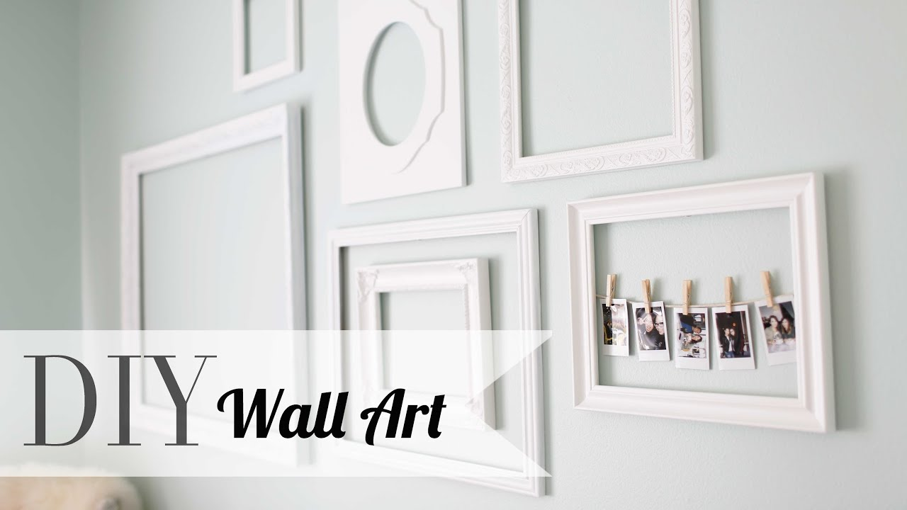 Wall Decor Frames diy chic wall art & polaroid display | home decor | ann le - youtube