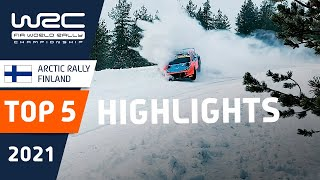 TOP 5 HIGHLIGHTS - WRC Arctic Rally Finland 2021 Powered by CapitalBox