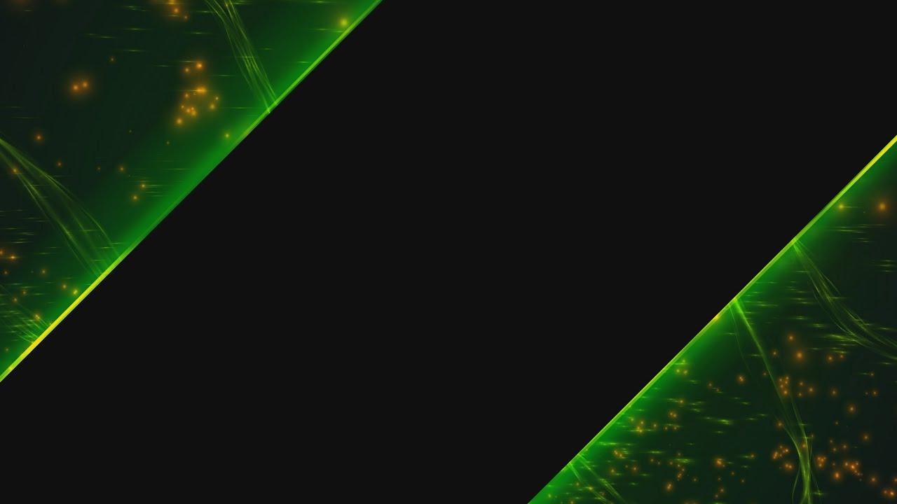 4k sparkling green top bottom menu title 2160p background youtube - Title wallpaper ...