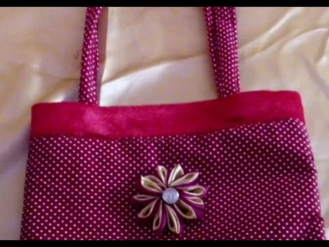 how to create a hand bag at home flower bag