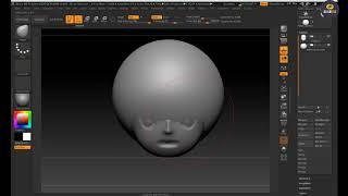 지브러쉬강좌 sphere를 이용한 기본 hair 모델링…