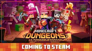 Minecraft Dungeons: Soon on Steam!