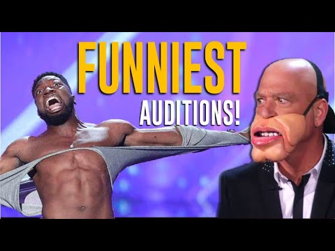 Top 10 FUNNIEST Auditions on America's Got Talent  Will Make You LOL
