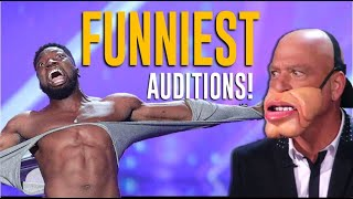 Download Top 10 FUNNIEST Auditions on America's Got Talent  Will Make You LOL😂