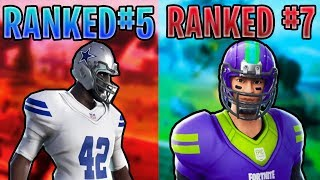 Ranking EVERY NFL Skin In Fortnite Battle Royale!