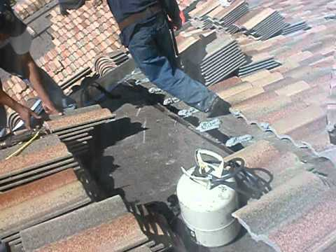 Jd Roofing Tile Installation Using Bond Adhesive Foam