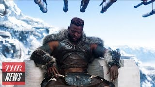 Young Boy Meticulously Acts Out M'Baku Challenge Scene From 'Black Panther' | THR News