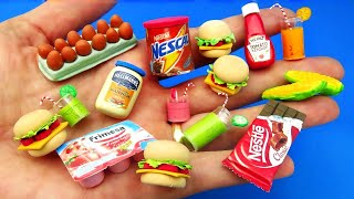10 Diy Miniaturas de Comidas Realistas Como Fazer Katchup Maionese Hamburguer Barbie Hacks Mini Food